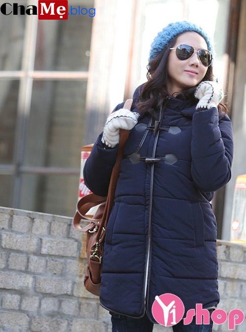 Áo khoác phao nữ lông vũ đẹp kiểu dáng ấm áp đông 2021 - 2022
