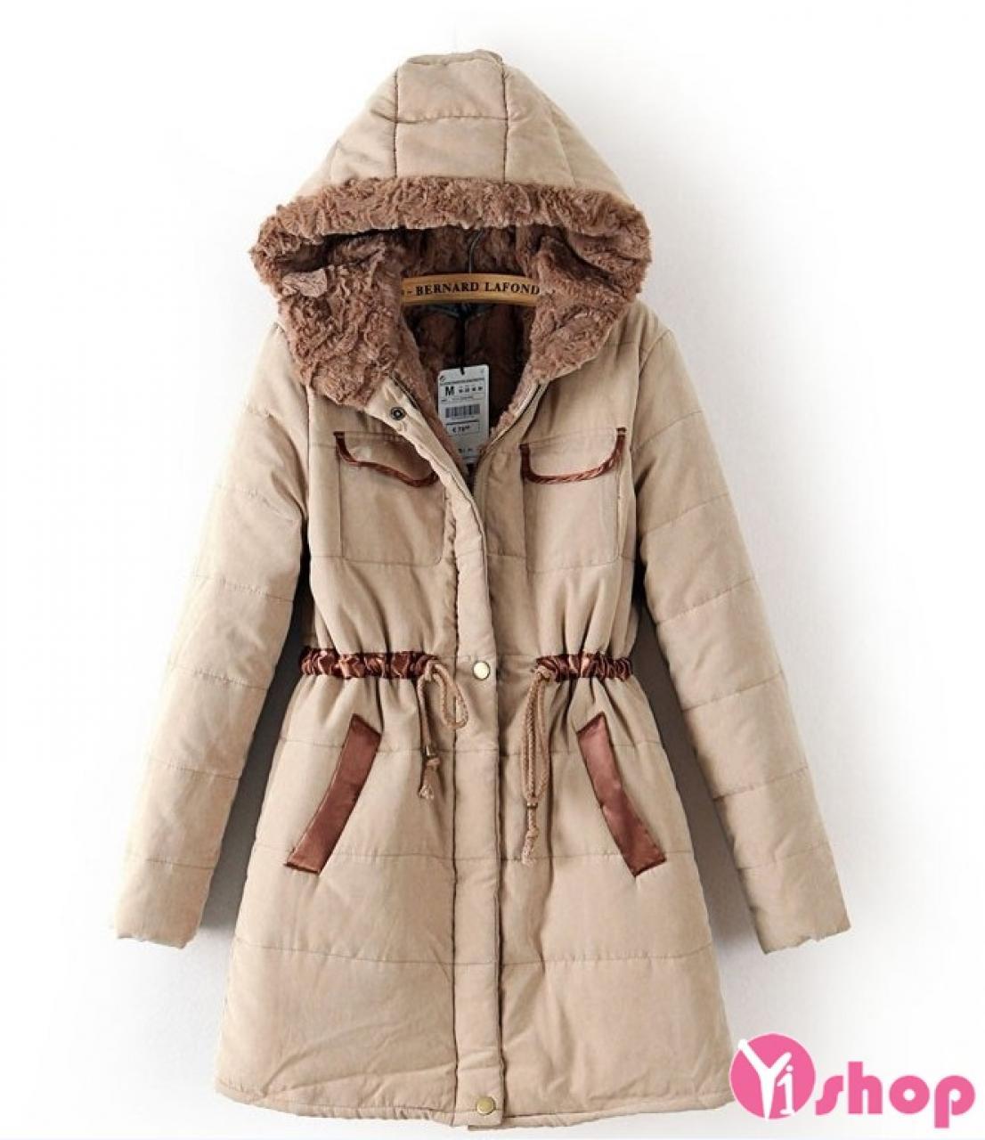 Áo khoác phao nữ lót lông thú đẹp sang trọng nhất trong mùa thu đông 2019