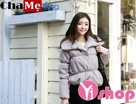 Áo khoác phao nữ lửng đẹp thu đông 2021 - 2022 trẻ trung xinh xắn