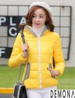 Áo khoác phao nữ màu vàng đẹp xinh tươi dạo phố thu đông 2021 – 2022