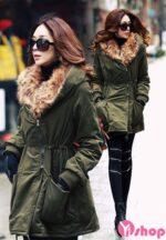 Áo khoác phao nữ ôm body đẹp thu đông 2021 – 2022 ấm áp sành điệu