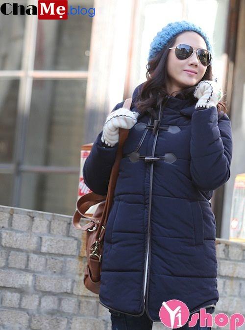 Áo khoác phao nữ phồng Hàn Quốc đẹp cho bạn gái gầy gò đông 2021 - 2022