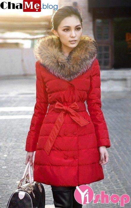 Áo khoác phao nữ thắt eo đẹp ấm áp duyên dáng thu đông 2021 - 2022