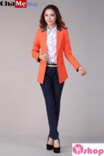 Áo khoác vest nữ công sở đẹp Hàn Quốc đông 2021 – 2022 thanh lịch