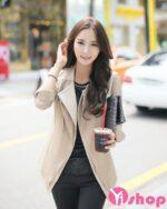 Áo khoác vest nữ Hàn Quốc đẹp thu đông 2021 – 2022 kín đáo đầy thanh lịch