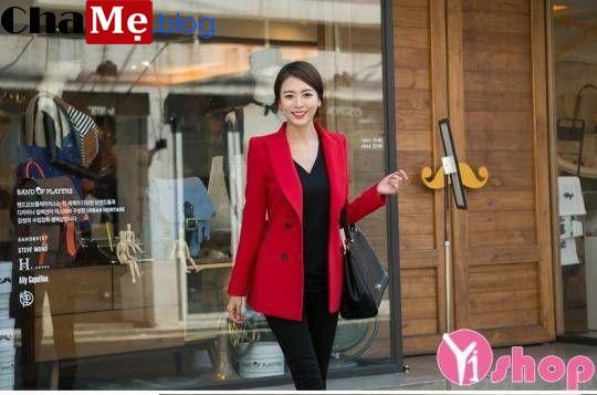 Áo khoác vest nữ công sở màu sắc đẹp thu đông 2021 - 2022 đang bán rất chạy