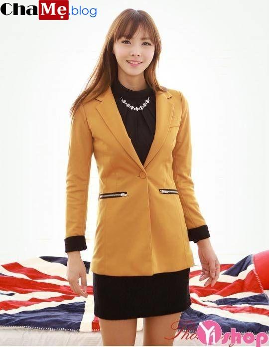 Áo khoác vest nữ dáng dài đẹp thu đông 2021 - 2022 tự tin tới công sở