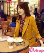 Áo khoác vest nữ đẹp Hàn Quốc sành điệu tới công sở đông 2021 – 2022
