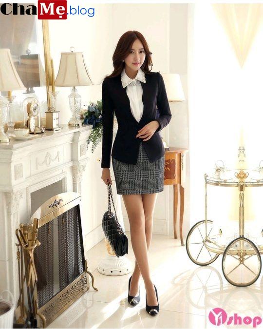 Áo khoác vest nữ đẹp kiểu dáng Hàn Quốc đông 2021 - 2022