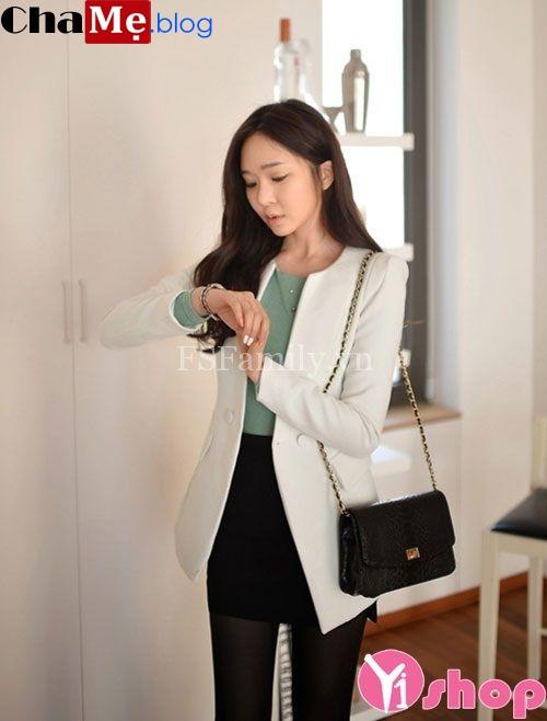 Áo khoác vest nữ đẹp trang nhã lịch sự tới công sở đông 2021 - 2022