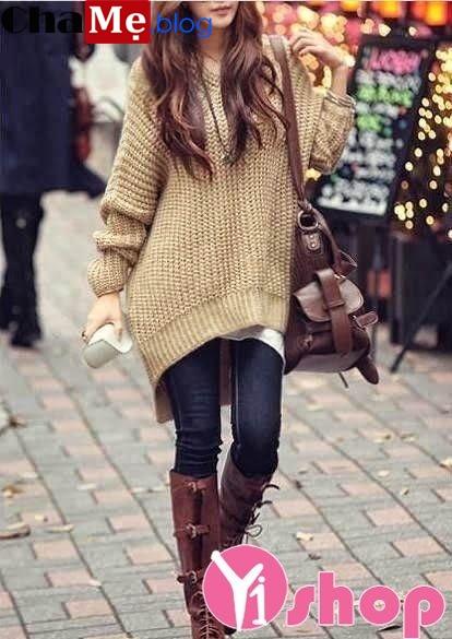 Áo len nữ cách điệu đẹp điệu đà thời trang mùa đông 2021 - 2022