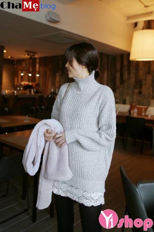 Áo len nữ cổ lọ đẹp được ưa chuộng nhiều nhất trong thu đông 2021 - 2022