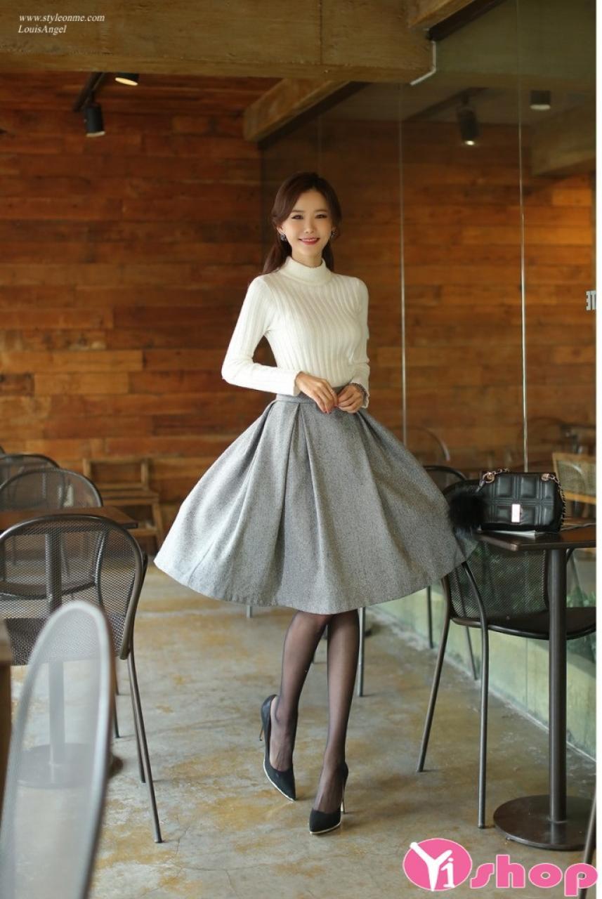 Áo len nữ dáng ngắn đẹp thu đông 2019 cho nàng công sở ấm áp