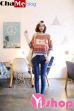 Áo len nữ họa tiết đẹp trang phục hấp dẫn vạn người mê đông 2021 – 2022