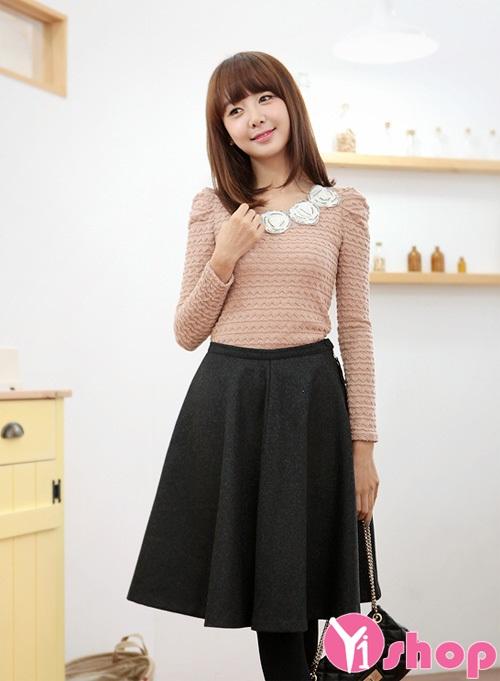 Áo len nữ tay dài đẹp kiểu Hàn Quốc hiện đại nhất mùa thời trang thu đông 2019