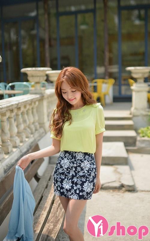 Áo sơ mi nữ tay ngắn vải voan đẹp miễn chê cho nàng mặc xinh đi làm hè 2021 - 2022