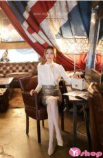 Áo sơ mi nữ công sở dài tay đẹp hè 2021 – 2022 cho nàng kín đáo nhẹ nhàng