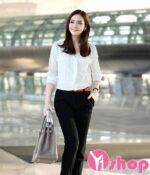 Áo sơ mi nữ Hàn Quốc đẹp công sở hot nhất thời trang hiện nay hè 2021 – 2022