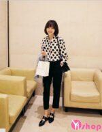 Áo sơ mi nữ họa tiết đẹp xu hướng thời trang Hàn Quốc hè 2021 – 2022