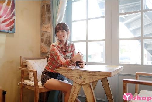 Áo sơ mi nữ kẻ caro đẹp kiểu Hàn Quốc cá tính nhất mùa hè