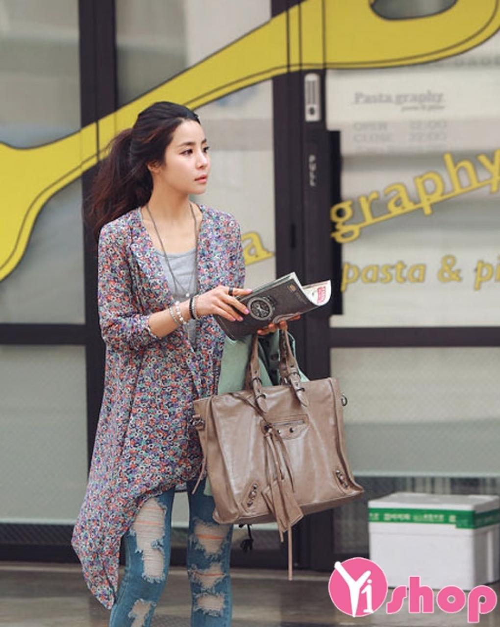 Áo sơ mi nữ lệch tà đẹp hè 2021 - 2022 kiểu Hàn Quốc sành điệu