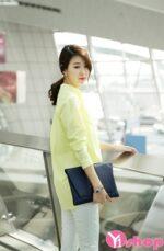 Áo sơ mi nữ màu pastel đẹp đầy quyến rũ tránh nắng mùa hè 2021 – 2022
