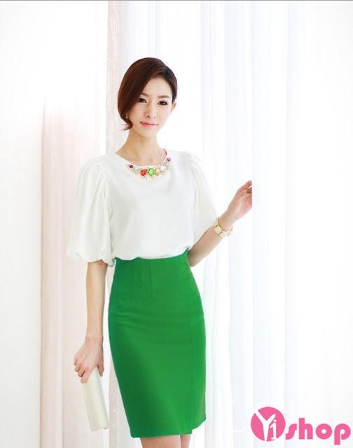 Áo sơ mi nữ màu sắc đẹp rực rỡ thời trang công sở đón hè về
