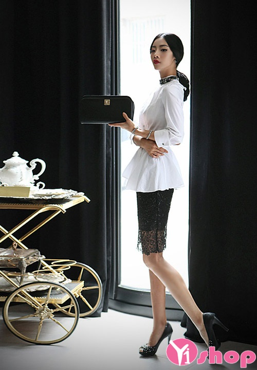 Áo sơ mi nữ peplum đẹp cho nàng công sở giấu nhẹm vòng eo bánh mỳ hè 2021 - 2022