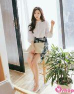 Áo sơ mi nữ trắng công sở đẹp phong cách Hàn Quốc chào hè 2021 – 2022