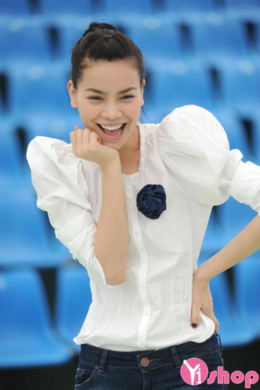 Áo sơ mi nữ trắng tay bồng đẹp nhất hè 2021 - 2022 cho cô nàng vai nhỏ