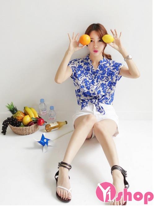 Áo sơ mi nữ voan mỏng đẹp xu hướng thời trang Hàn Quốc hè 2021 - 2022