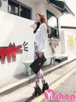 Áo sơ mi trắng nữ kiểu dáng đẹp thời trang Hàn Quốc hè 2021 – 2022