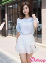 Áo sơ mi voan nữ đẹp thời trang Hàn Quốc HOT nhất hè này 2021 – 2022