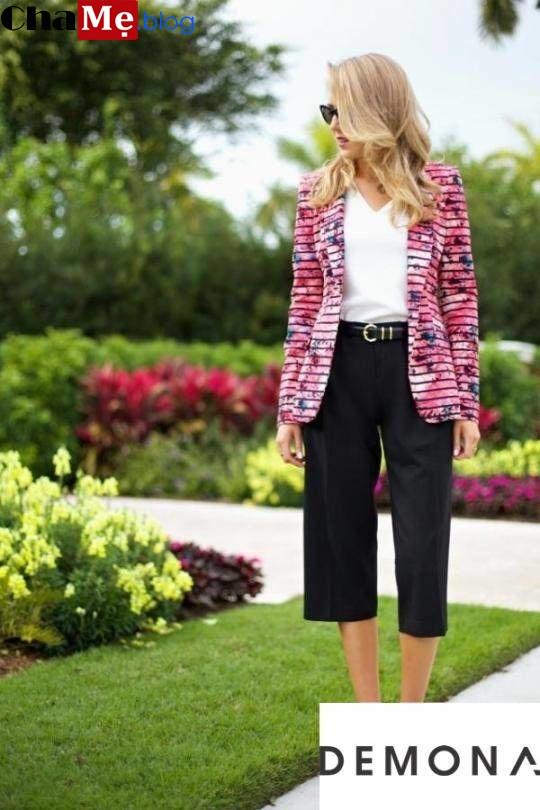 Bắt kịp xu hướng với áo khoác blazer hoa nữ đẹp quyến rũ thu đông 2021 - 2022