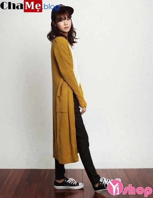 Bí quyết diện áo khoác len nữ hàn quốc đẹp chuẩn như sao thu đông 2021 - 2022