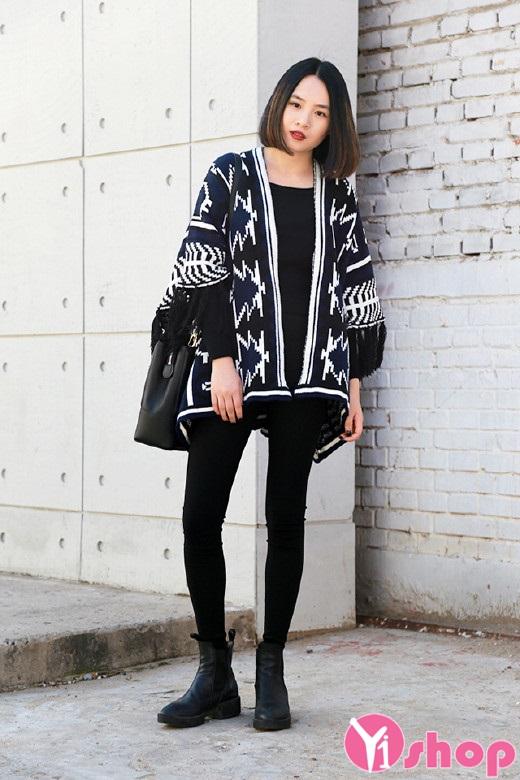 Bộ sưu tập áo khoác cardigan nữ họa tiết đẹp cho nàng dạo phố thu đông 2019