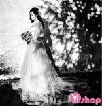 Bộ sưu tập váy cưới kiểu mới đẹp nhất hè 2021 – 2022 giúp nàng che bụng bầu hiệu quả
