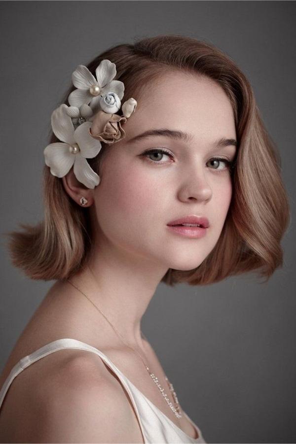 BST 15 kiểu tóc cô dâu ngắn đẹp lung linh rạng ngời trong ngày cưới 2021