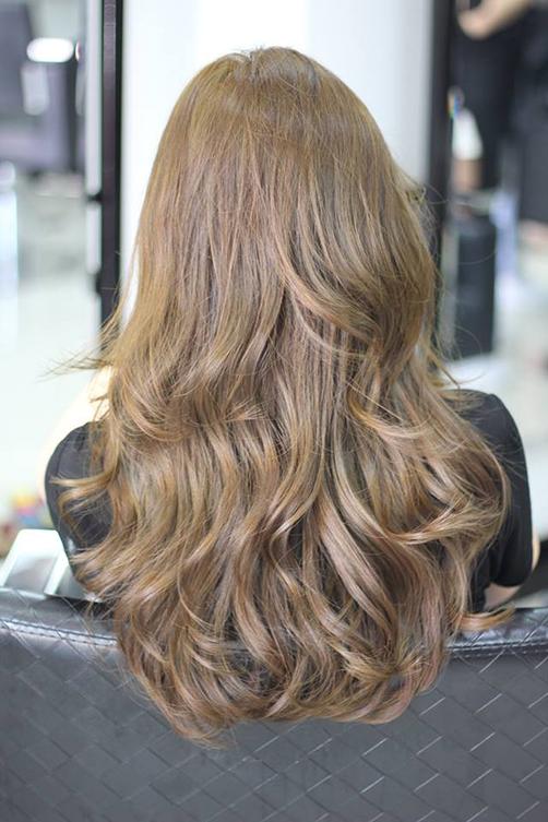 BST 31 màu tóc nhuộm vàng rêu đẹp 2021 chưa bao giờ lỗi mốt