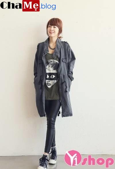 Cá tính ngày lạnh với áo khoác jean nữ đẹp kiểu hàn quốc thu đông 2021 - 2022