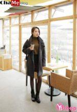 Cách mix áo khoác nữ dáng dài đẹp với áo len cổ lọ mùa đông 2021 – 2022