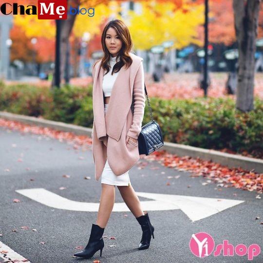 Cách mix áo khoác nữ đẹp như mỹ nhân xứ Hàn