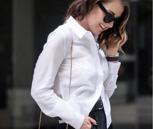 10 Cách Mix đồ với áo sơ mi trắng cực đẹp và sáng tạo phần 2