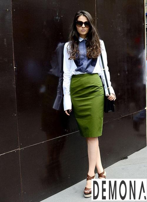 Chân váy bút chì dáng dài đẹp item không bao giờ lỗi mốt hè 2019 phần 4