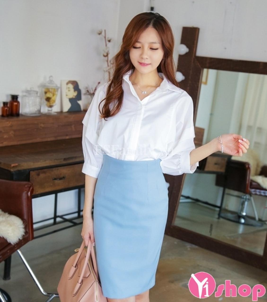 Chân váy đầm bút chì đẹp Hàn Quốc hè 2021 - 2022 cho nàng trẻ trung cá tính