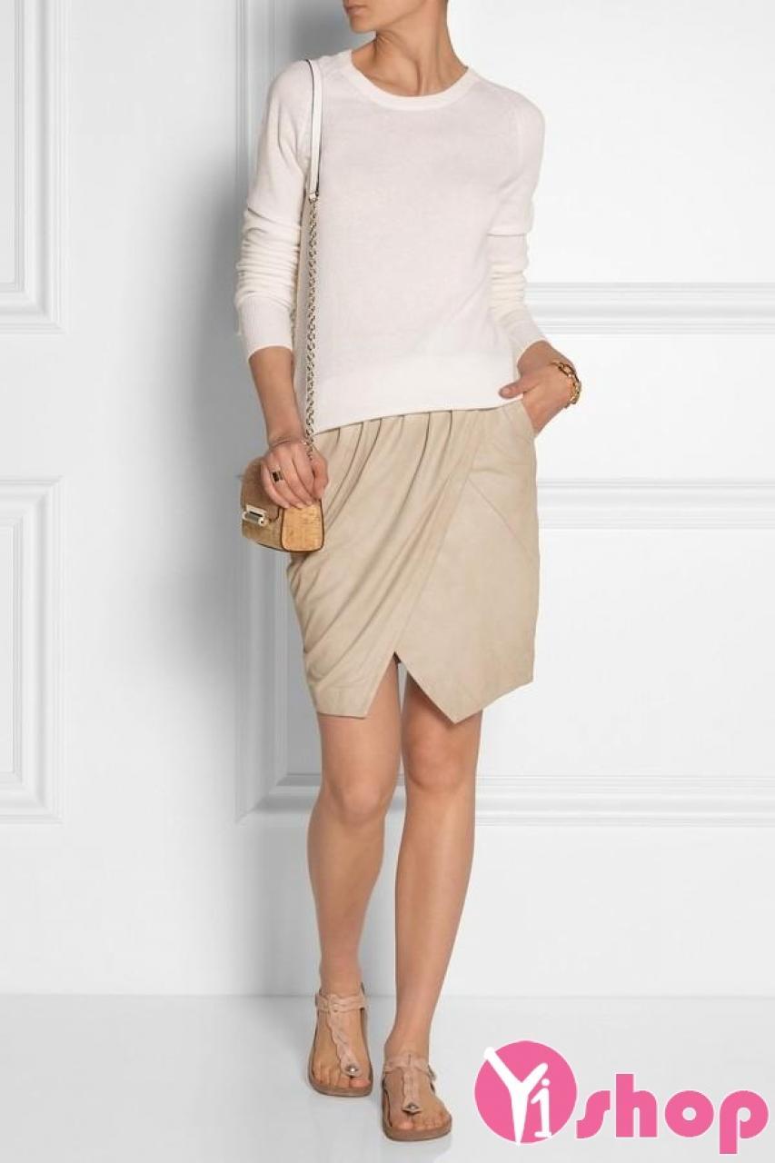 Chân váy đầm cuốn đẹp cho nàng quyến rũ sành điệu ngày hè 2021 - 2022