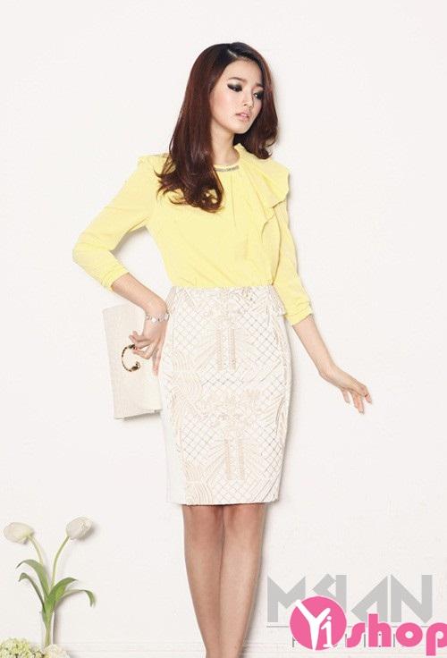 Chân váy đầm Hàn Quốc đẹp duyên dáng tới công sở hè 2021 - 2022