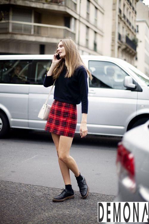 Hè 2019 diện chân váy kẻ caro xòe đẹp để tự tin khoe vẻ năng động mọi nơi phần 6