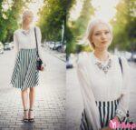 Chân váy đầm kẻ đen trắng đẹp hè 2021 – 2022 cho nàng năng động dạo phố