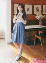 Chân váy đầm midi đẹp hè 2021 – 2022 cho nàng lãng mạn dạo phố